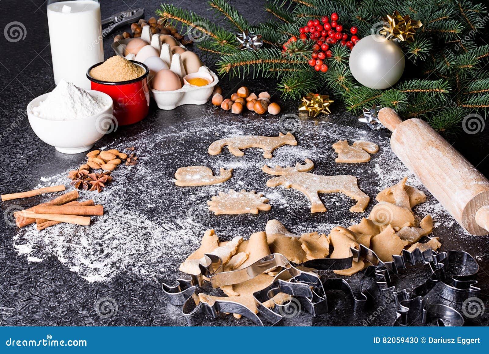 Ingredients De Cuisson Pour Le Pain D Epice De Biscuits De Noel