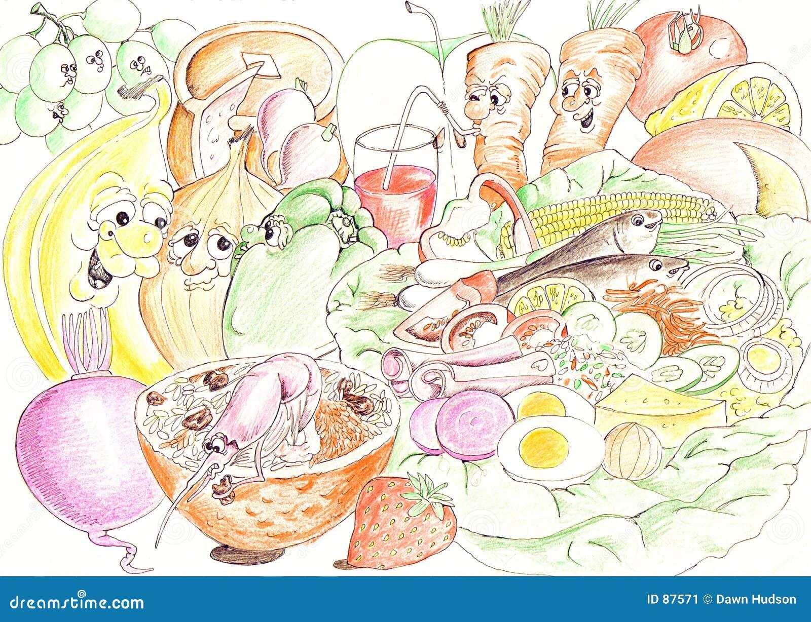 Ingrédients de salade