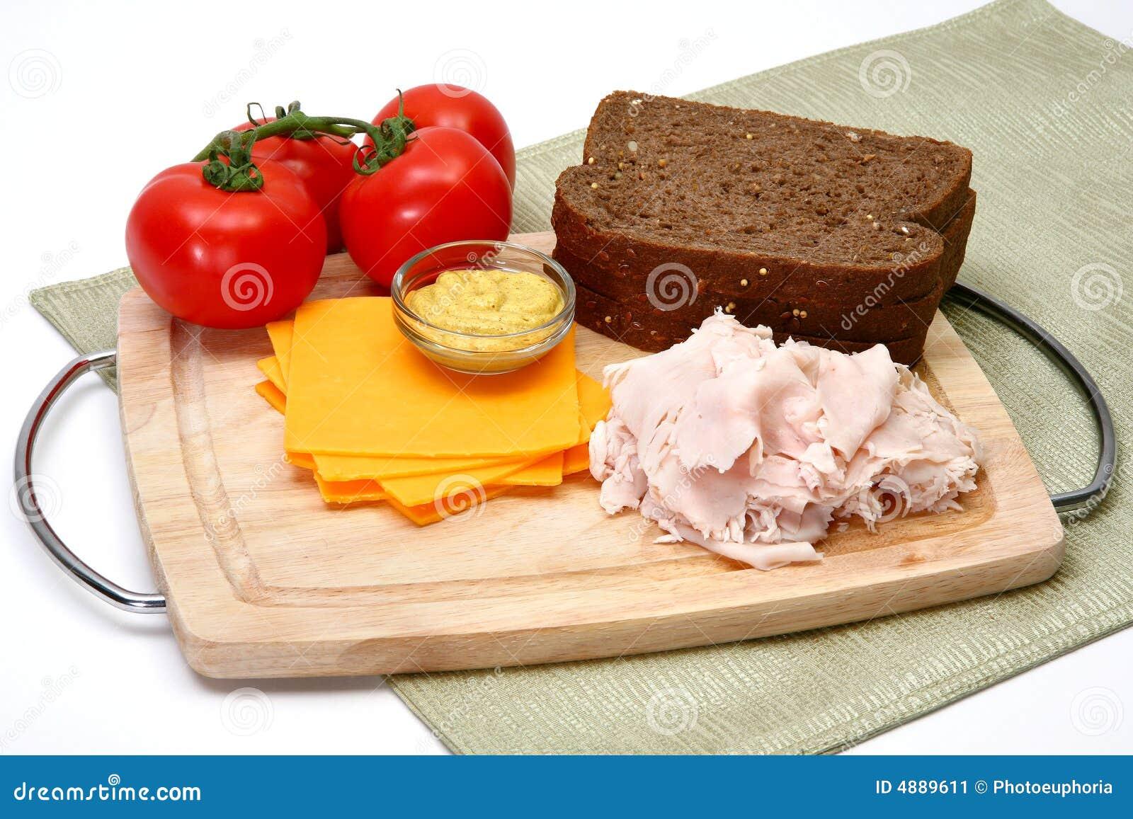 Ingrédients de sandwich à Turquie