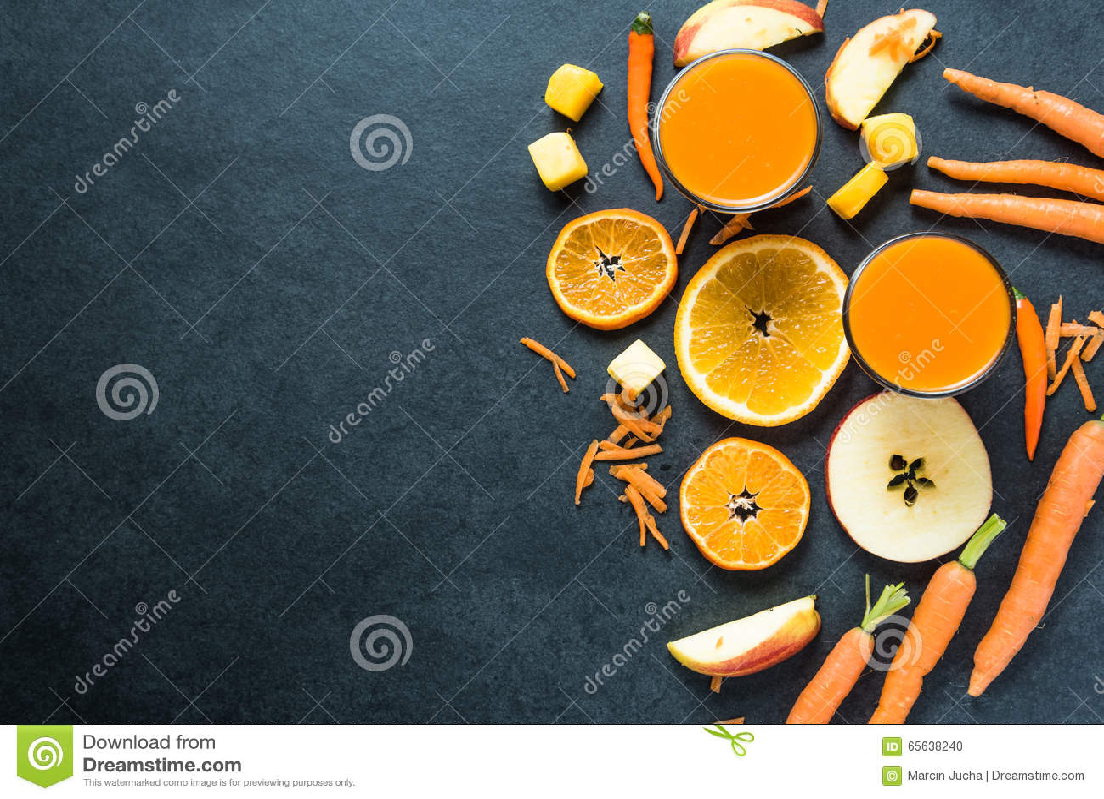 Ingrédients de smoothie d alimentation saine, fond de nourriture