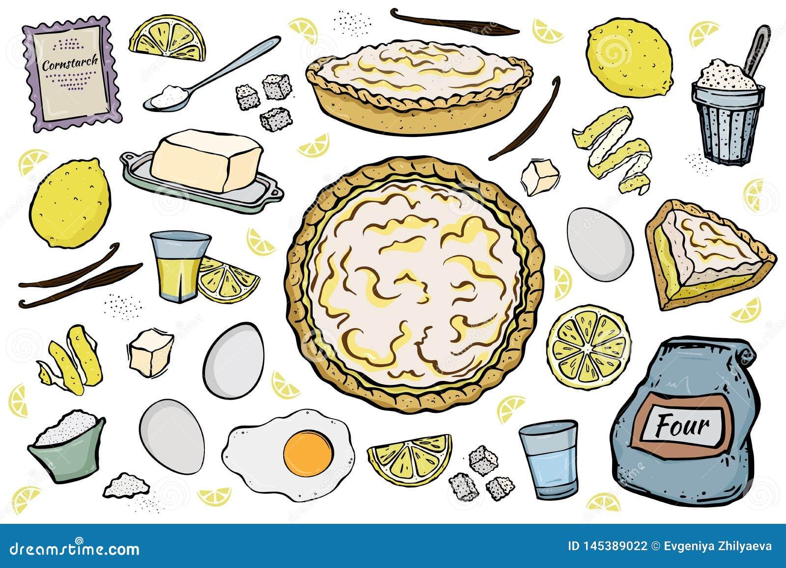 Ingrédients ouverts de tarte de citron