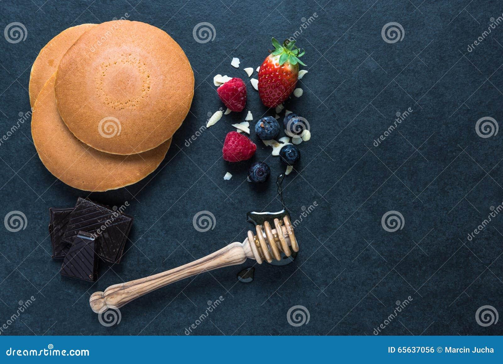 Ingrédients pour des crêpes
