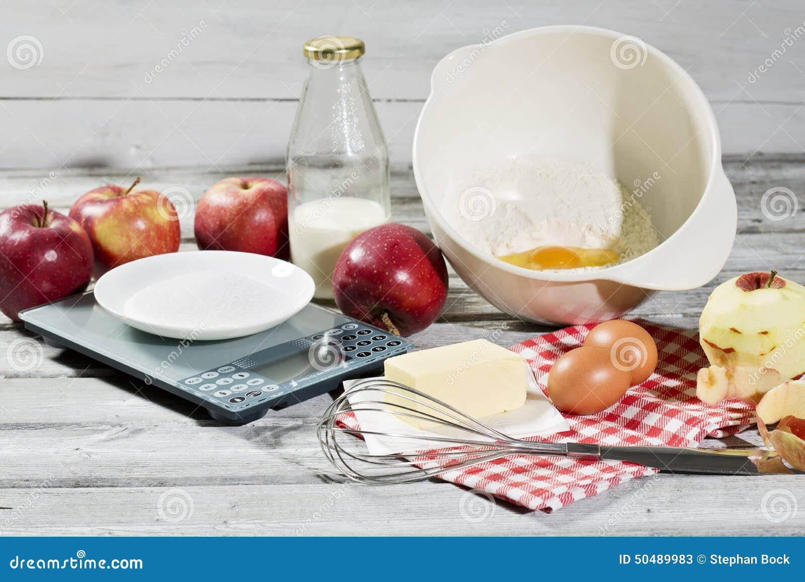 Ingr dients pour la tarte aux pommes les pommes le - Machine pour ramasser les pommes ...