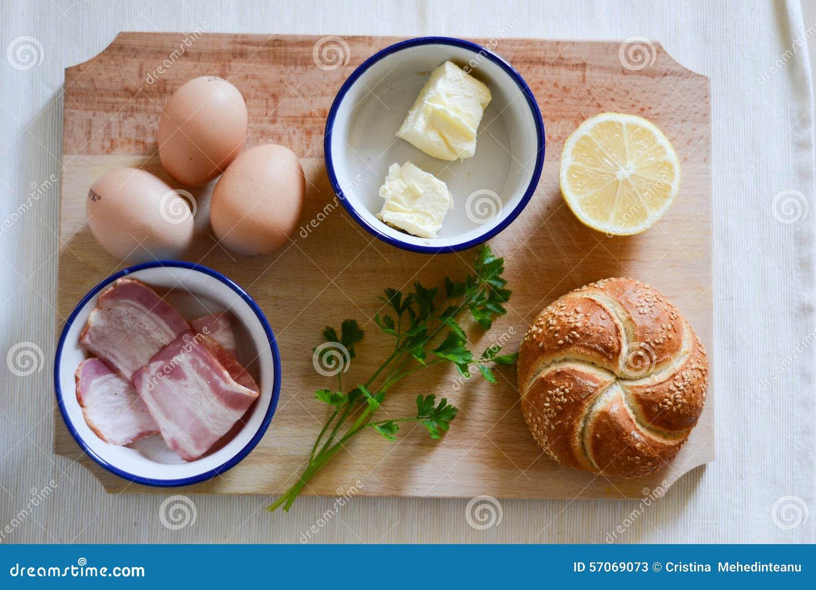 Ingrediënten voor ontbijt