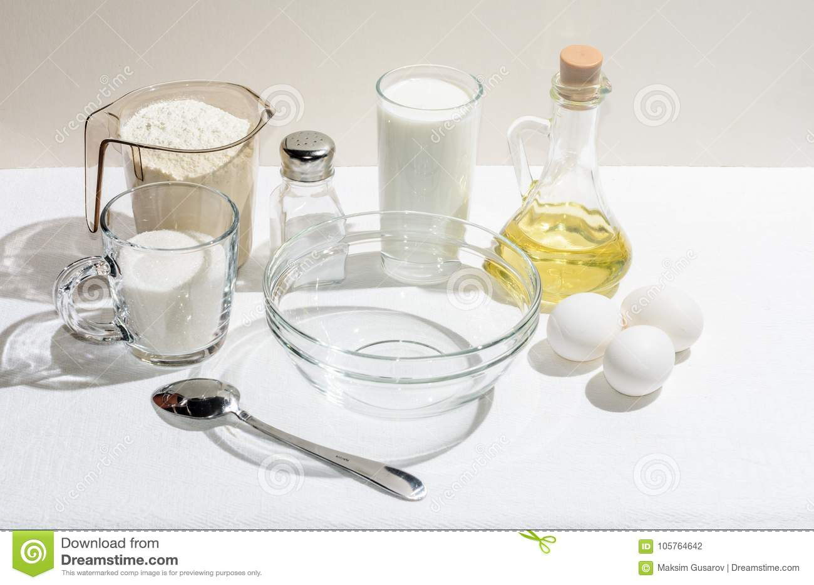 Ingrediënten voor pannekoeken