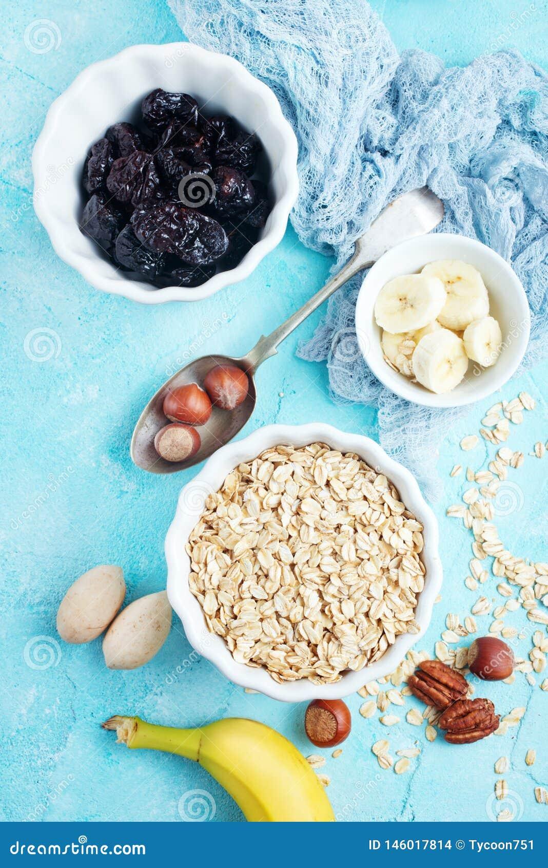 Ingrediants for breakfast