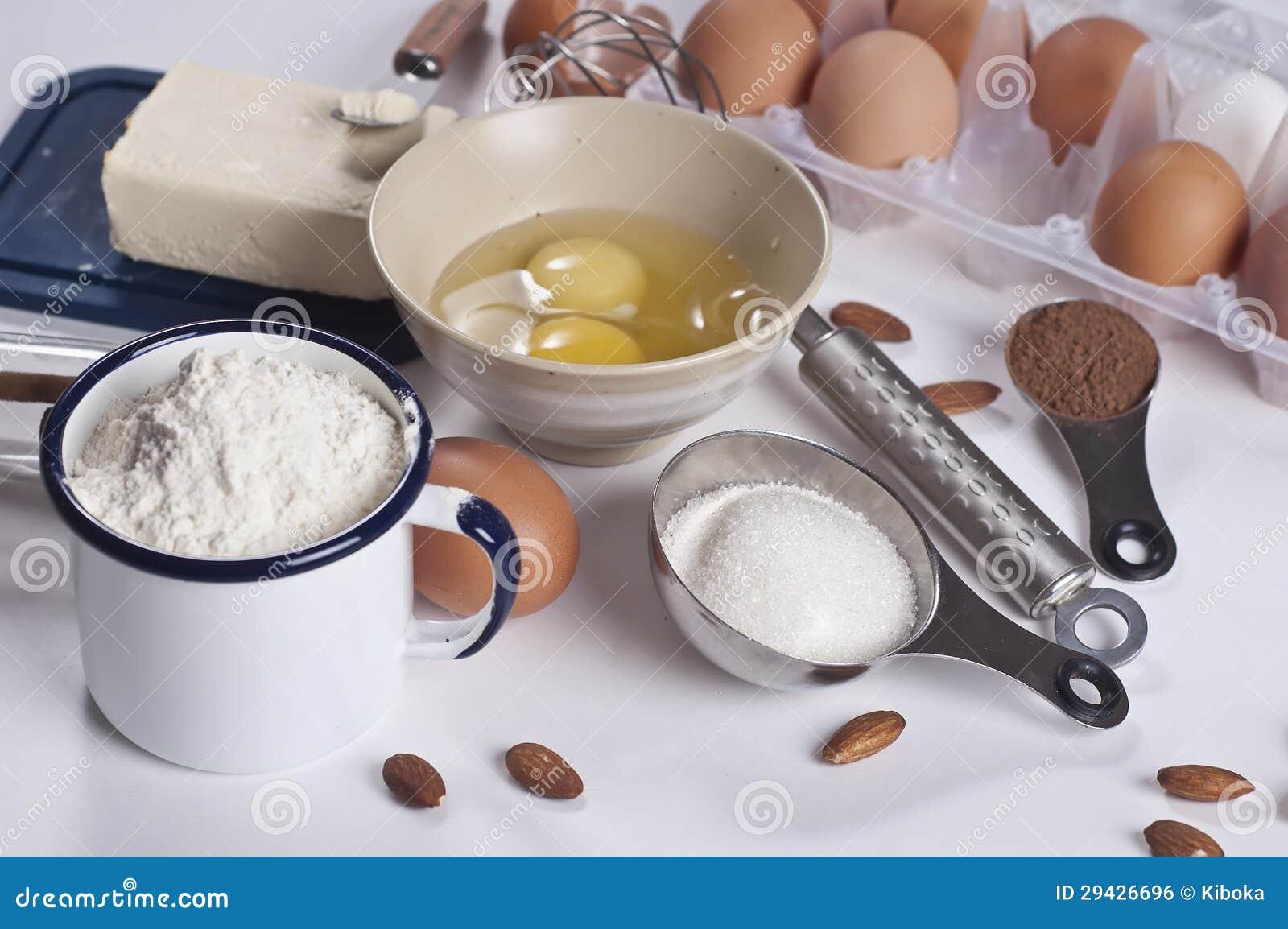 Ingrediente de la panader a imagen de archivo libre de - Ingredientes reposteria creativa ...