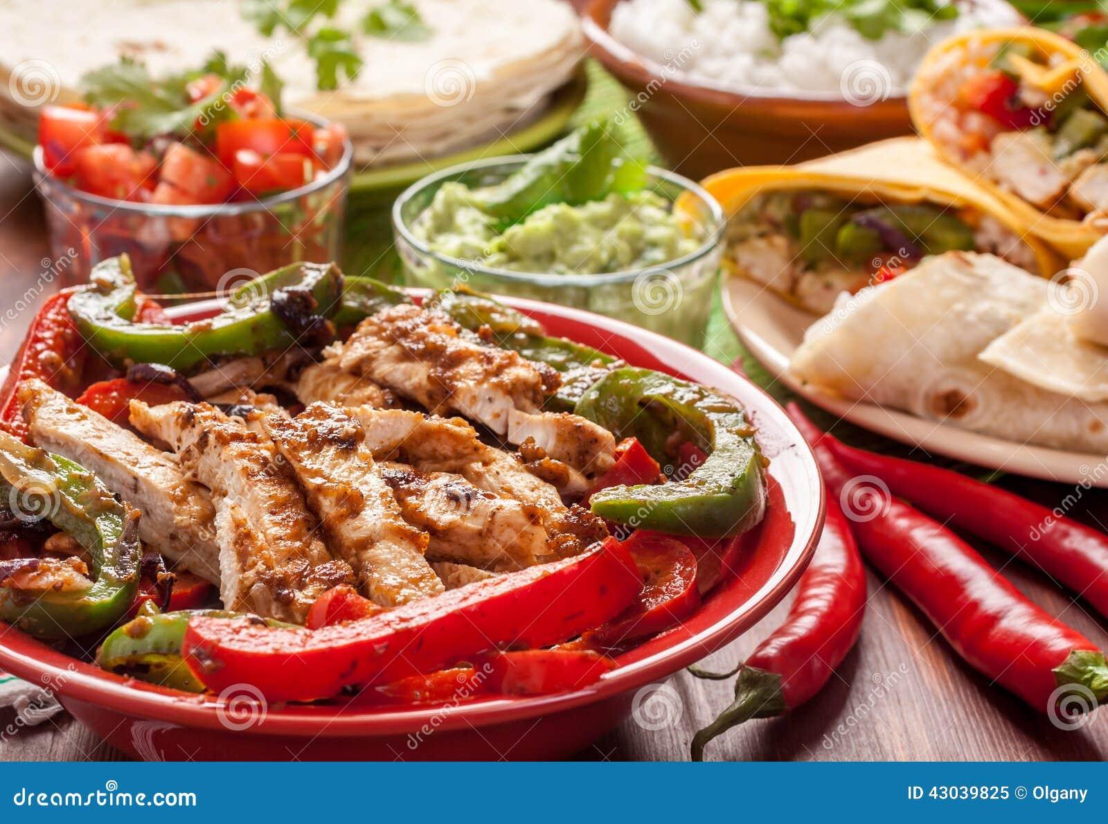 Ingredientes de alimento mexicanos tradicionais