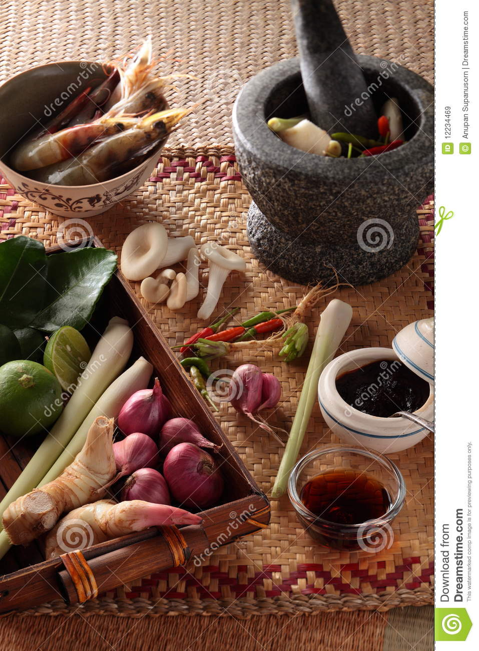 Ingredientes de cocinar tailandeses for Ingredientes para cocinar