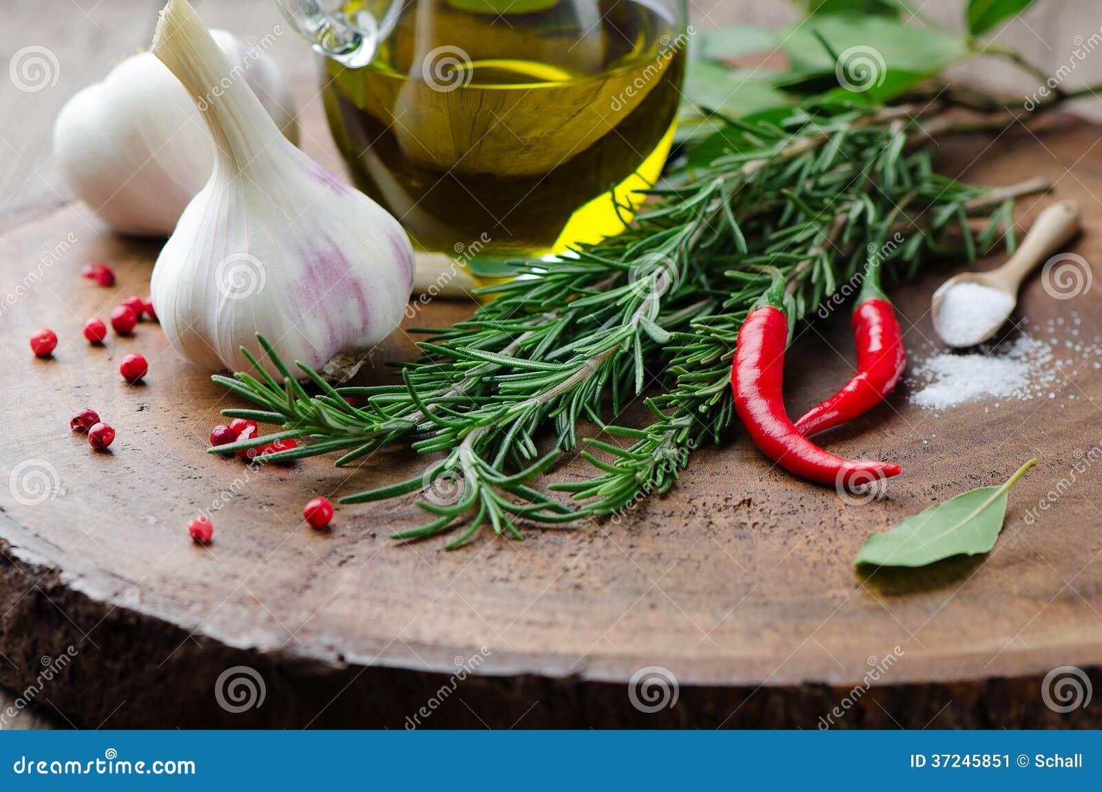 Ingredientes de cozimento frescos