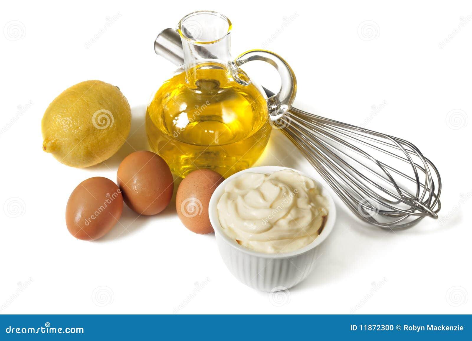 Ingredientes de la mayonesa foto de archivo imagen 11872300 for Cocinar huevos 7 days to die