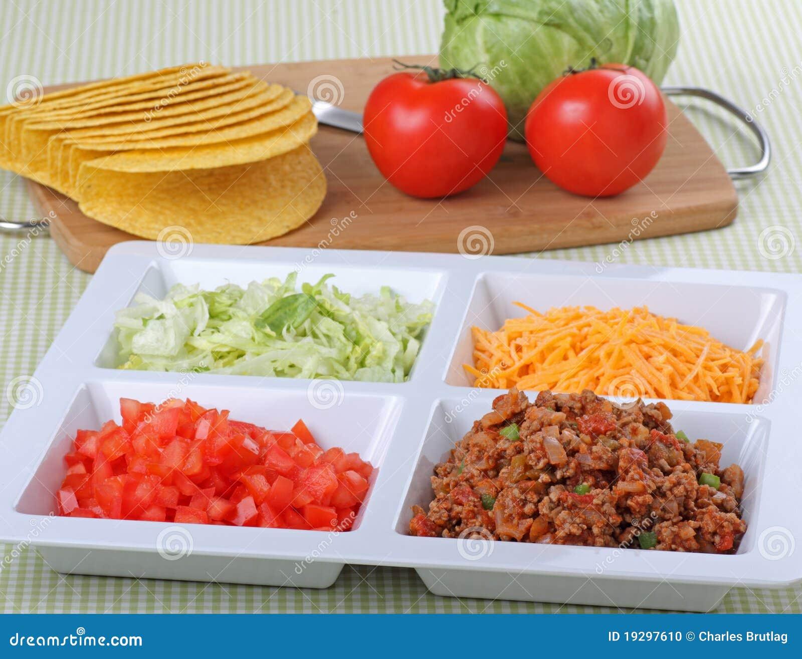 Ingredientes do Taco