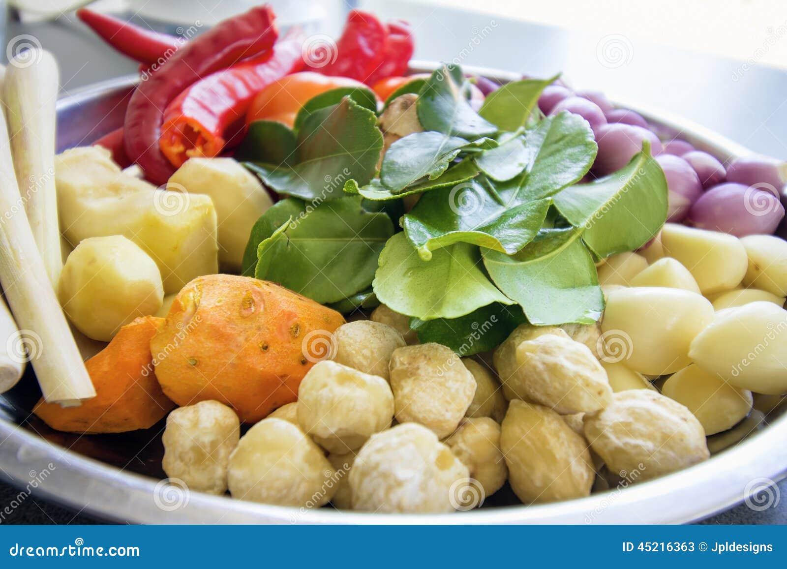 Ingredientes frescos para cocinar el primer de la salsa de for Ingredientes para cocinar