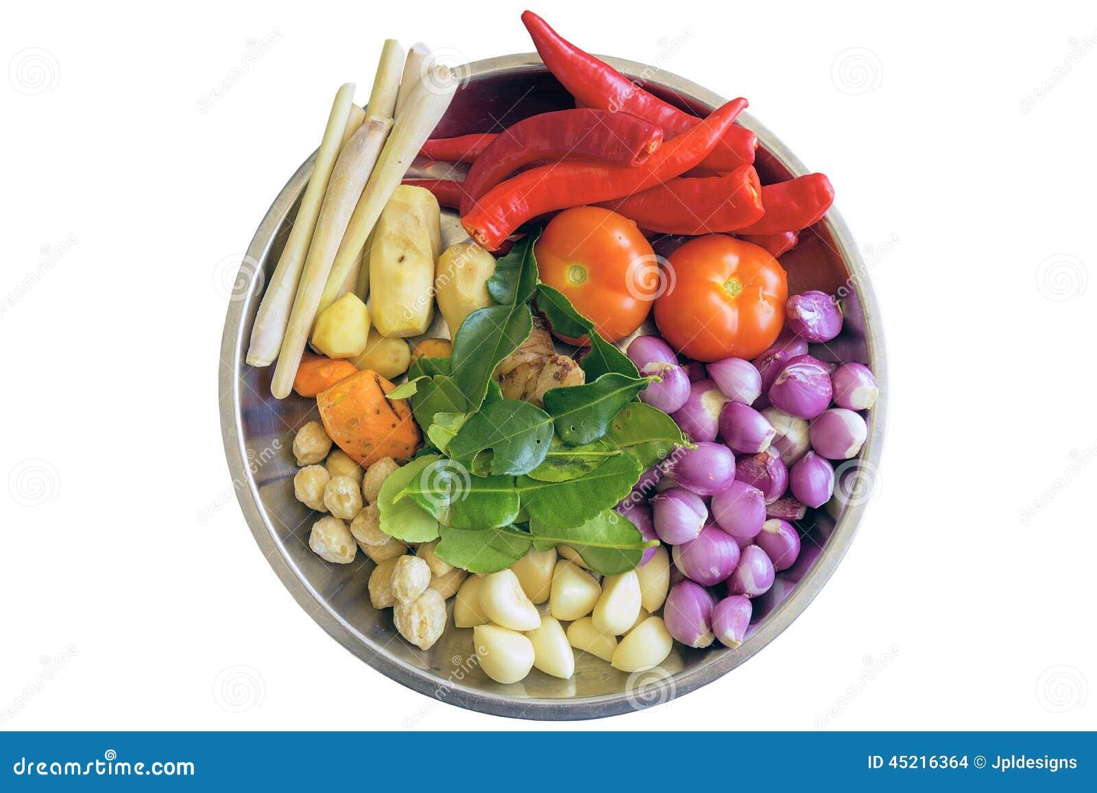 Ingredientes frescos para cocinar la salsa de curry foto for Ingredientes para cocinar