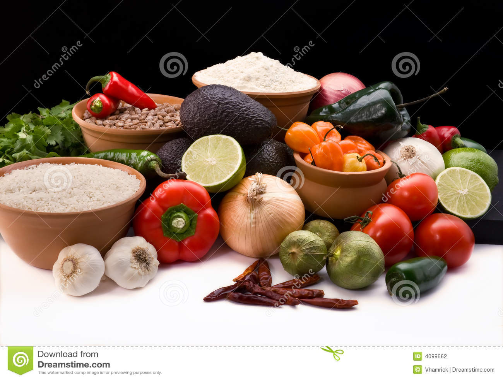 Comida mexicana for Ingredientes para comida