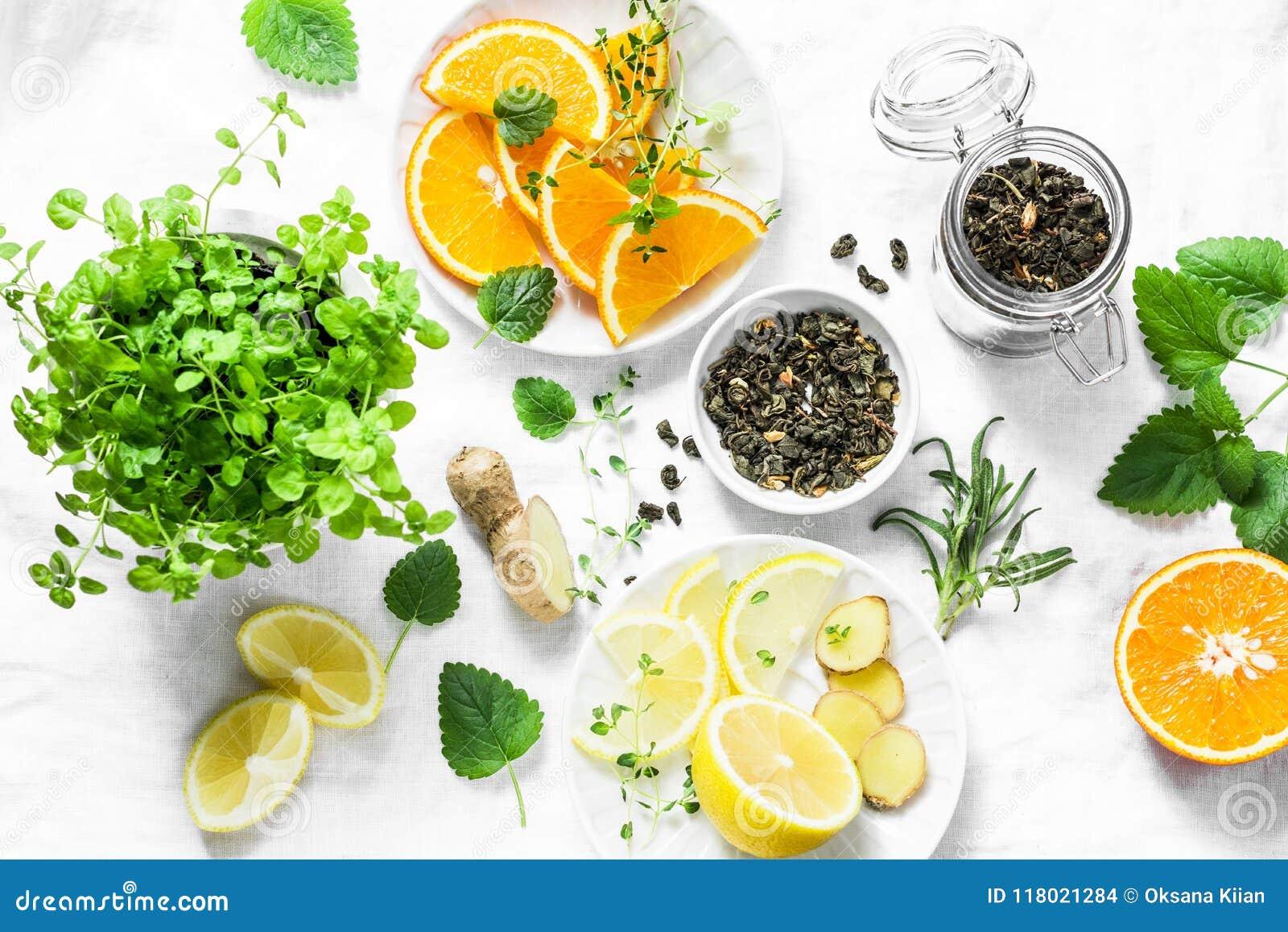 Te verde con limon y jengibre