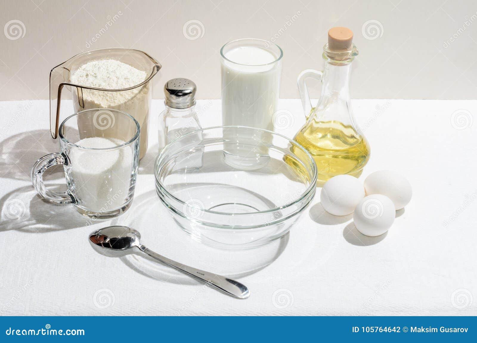 Ingredientes para las crepes