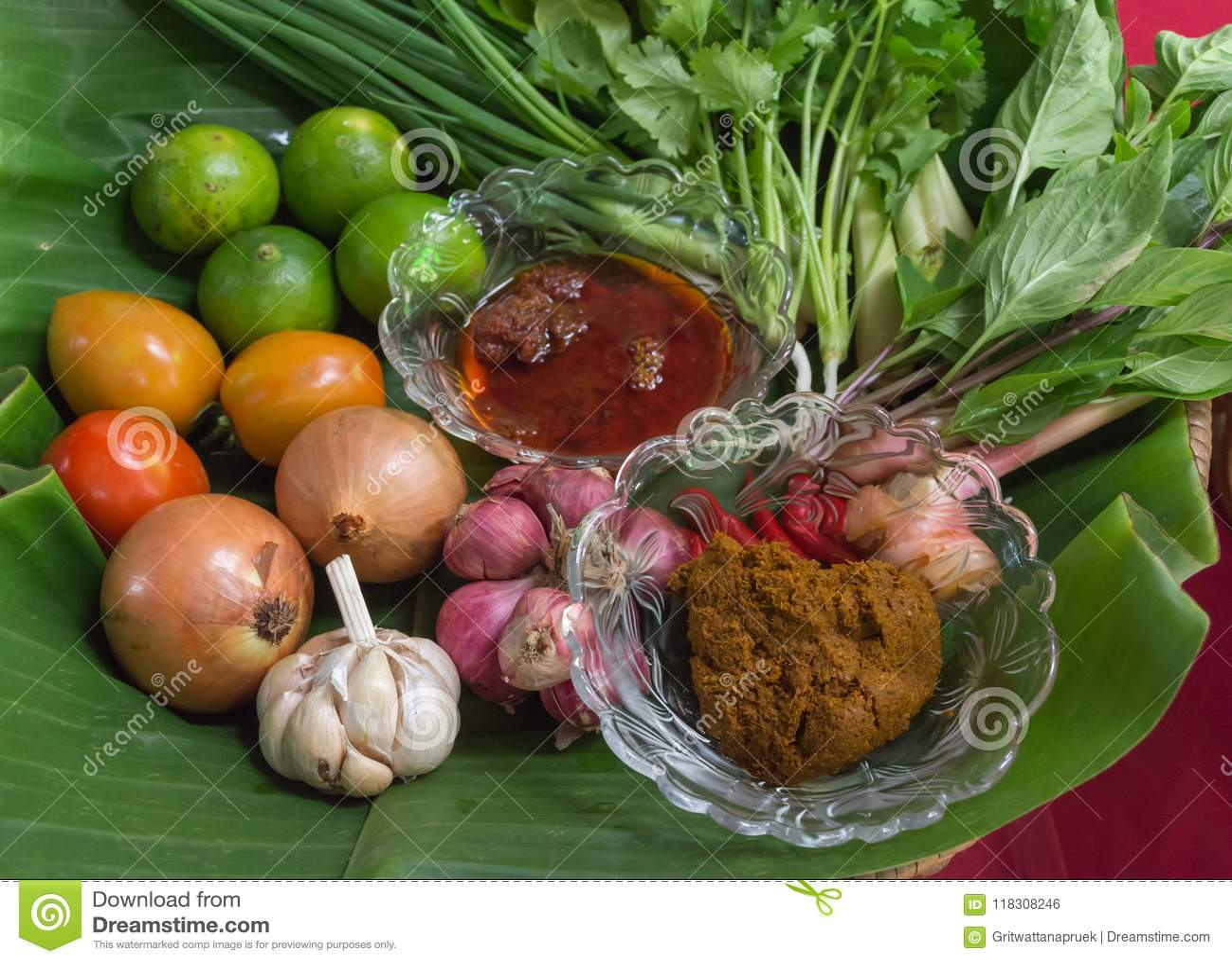 Ingredientes para tom yum