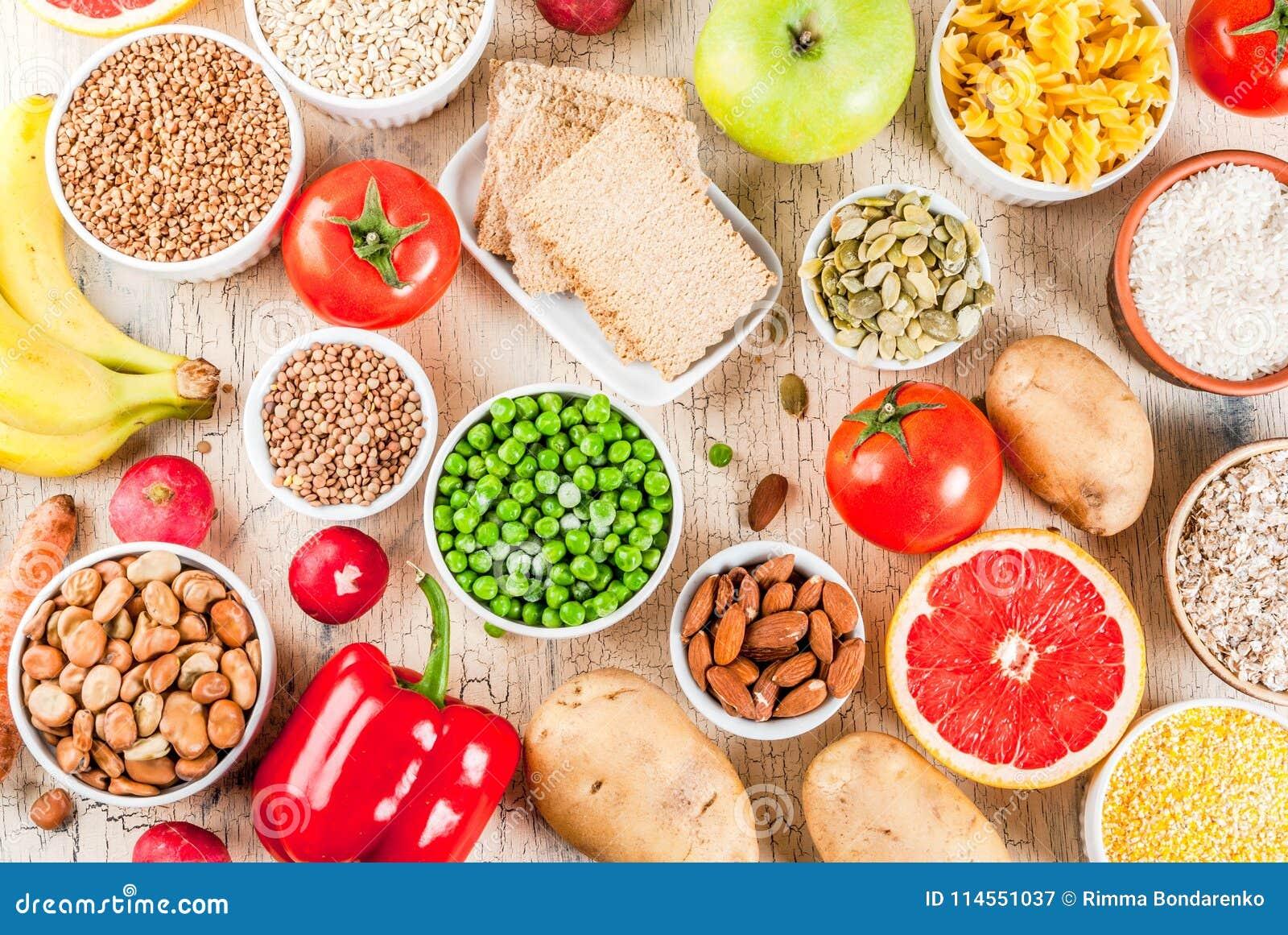 alimentos con hidratos de carbono sanos