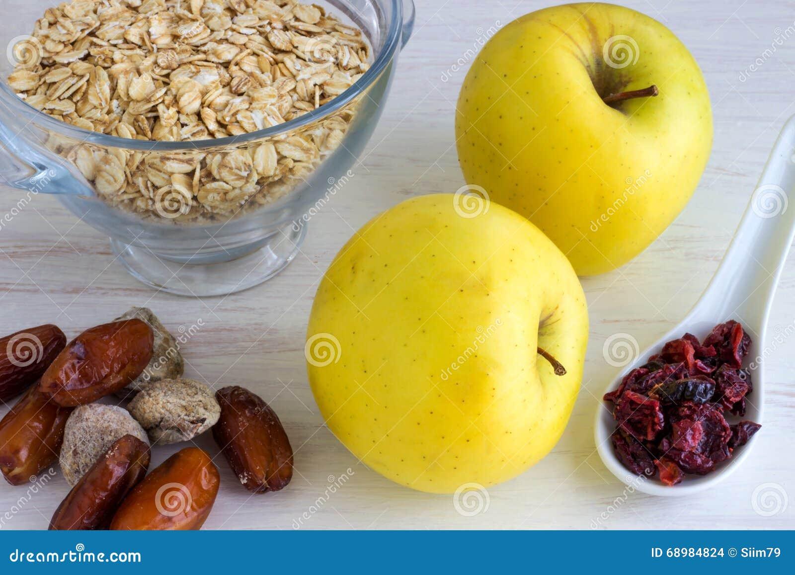 Ingredientes sanos del desayuno