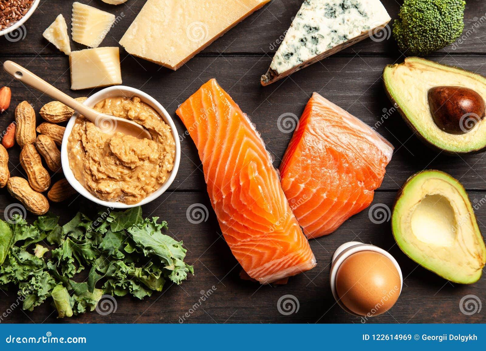 Ingredienti alimentari di dieta del cheto