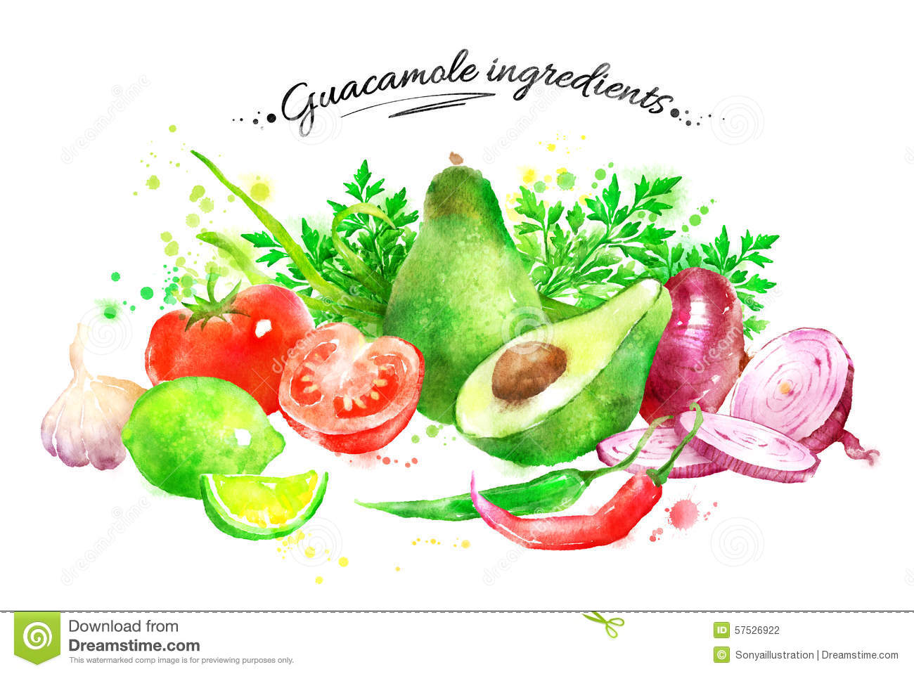 Ingredienti del guacamole