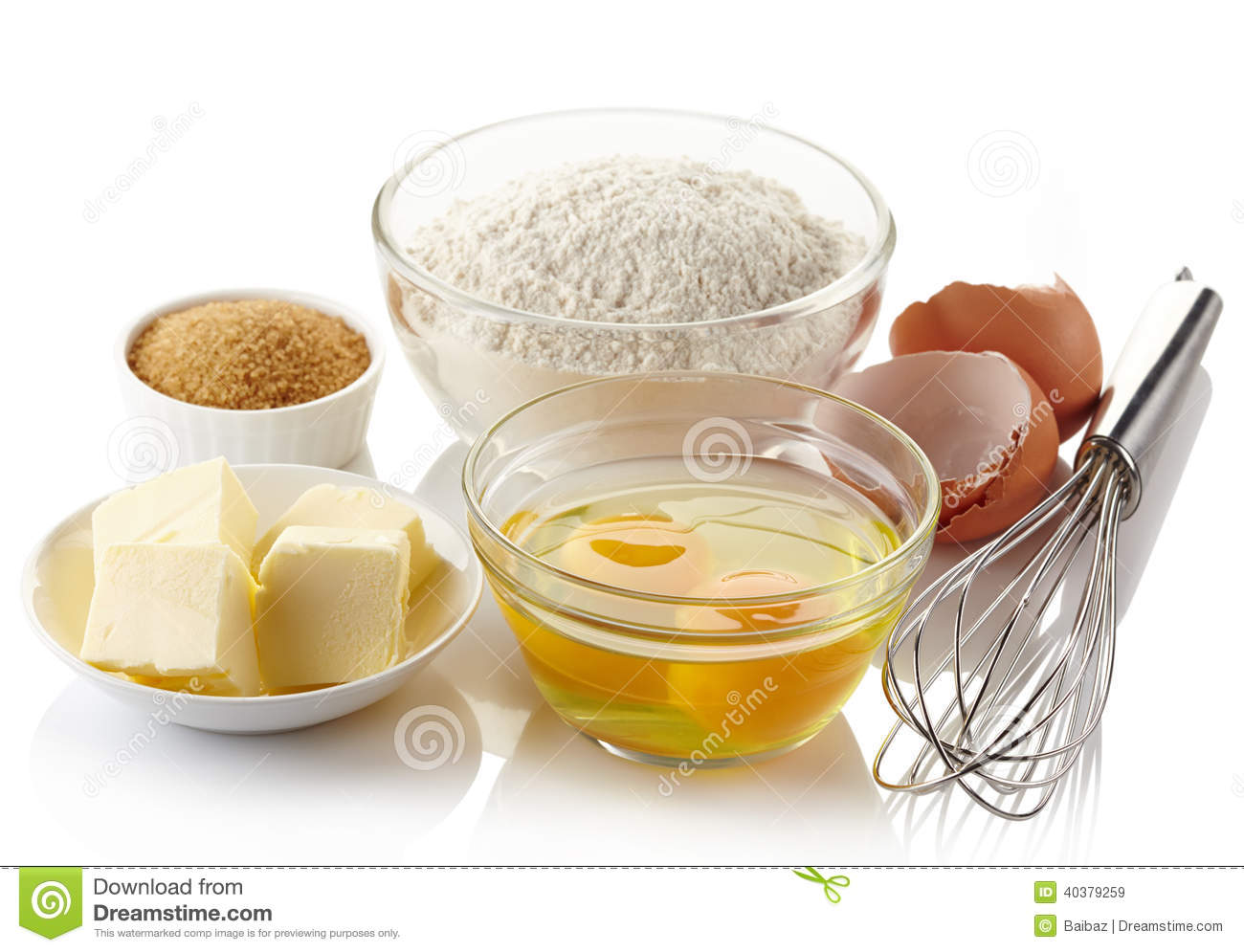 Ingredients For Baking Cake Stock Photo - Image: 40379259