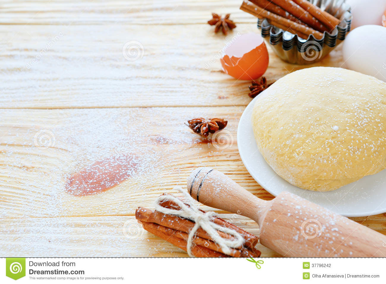 Ingredients For Baking And Pastry Stock Photo - Image of ...