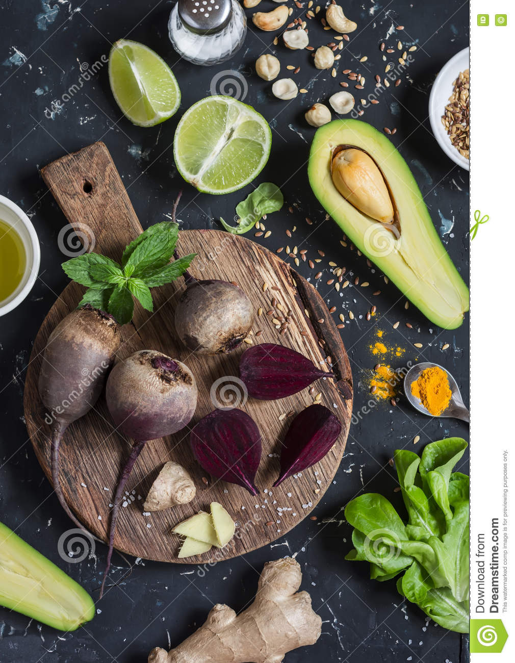 Wallpaper Food Cooking Grill Vegetables Peppers: Ingredients For Cooking Beet And Avocado Detox Salad. On A