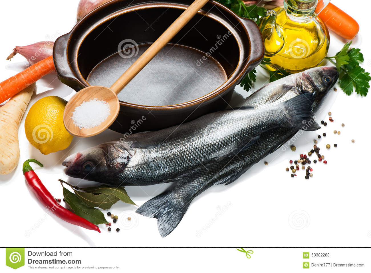 Ingredients for cooking fish dish stock photo image for Aromatic herb for fish
