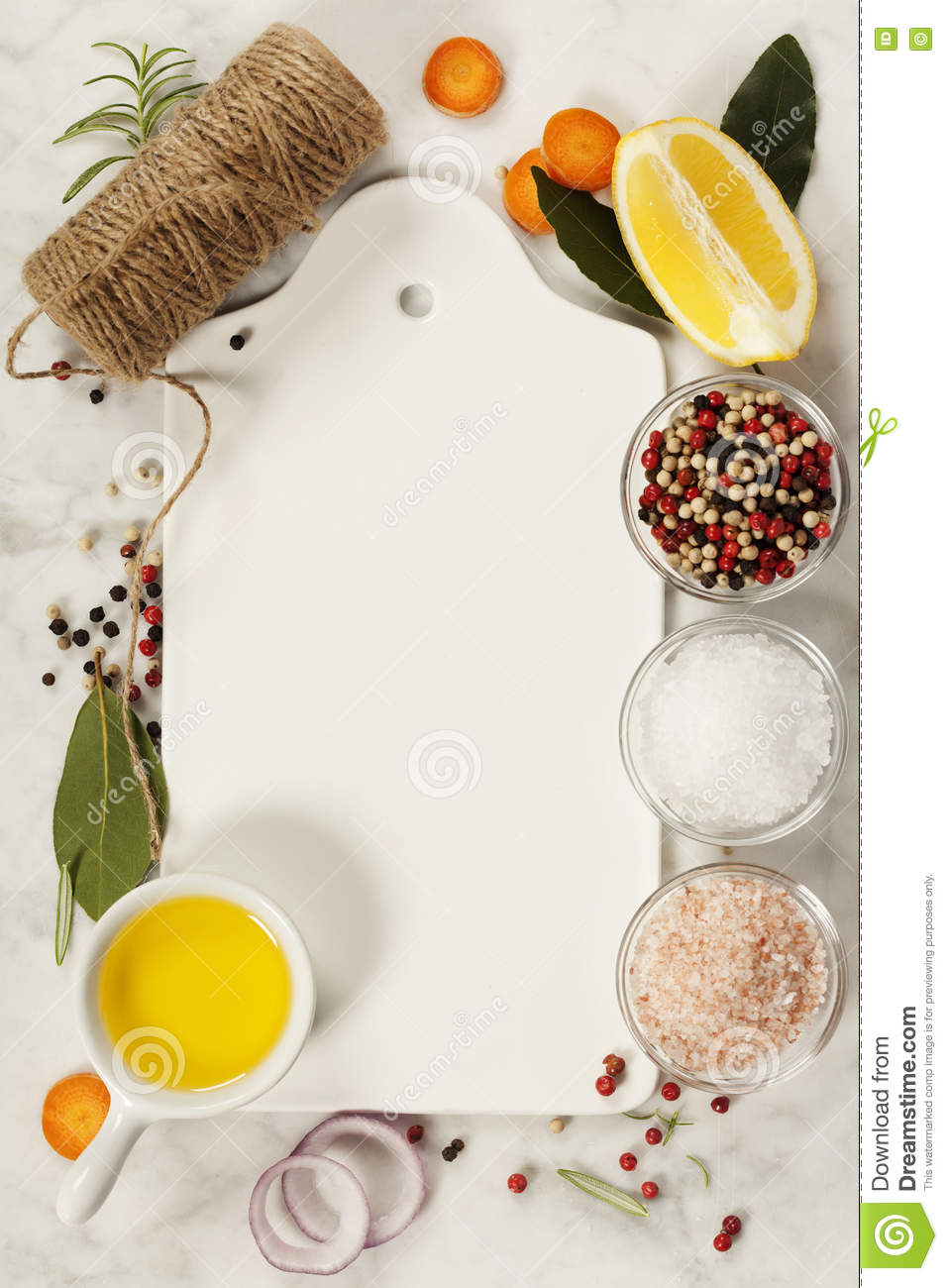 Ingredients for cooking fish and seafood on marble background stock photo image 71442780 - Foods never wash cooking ...