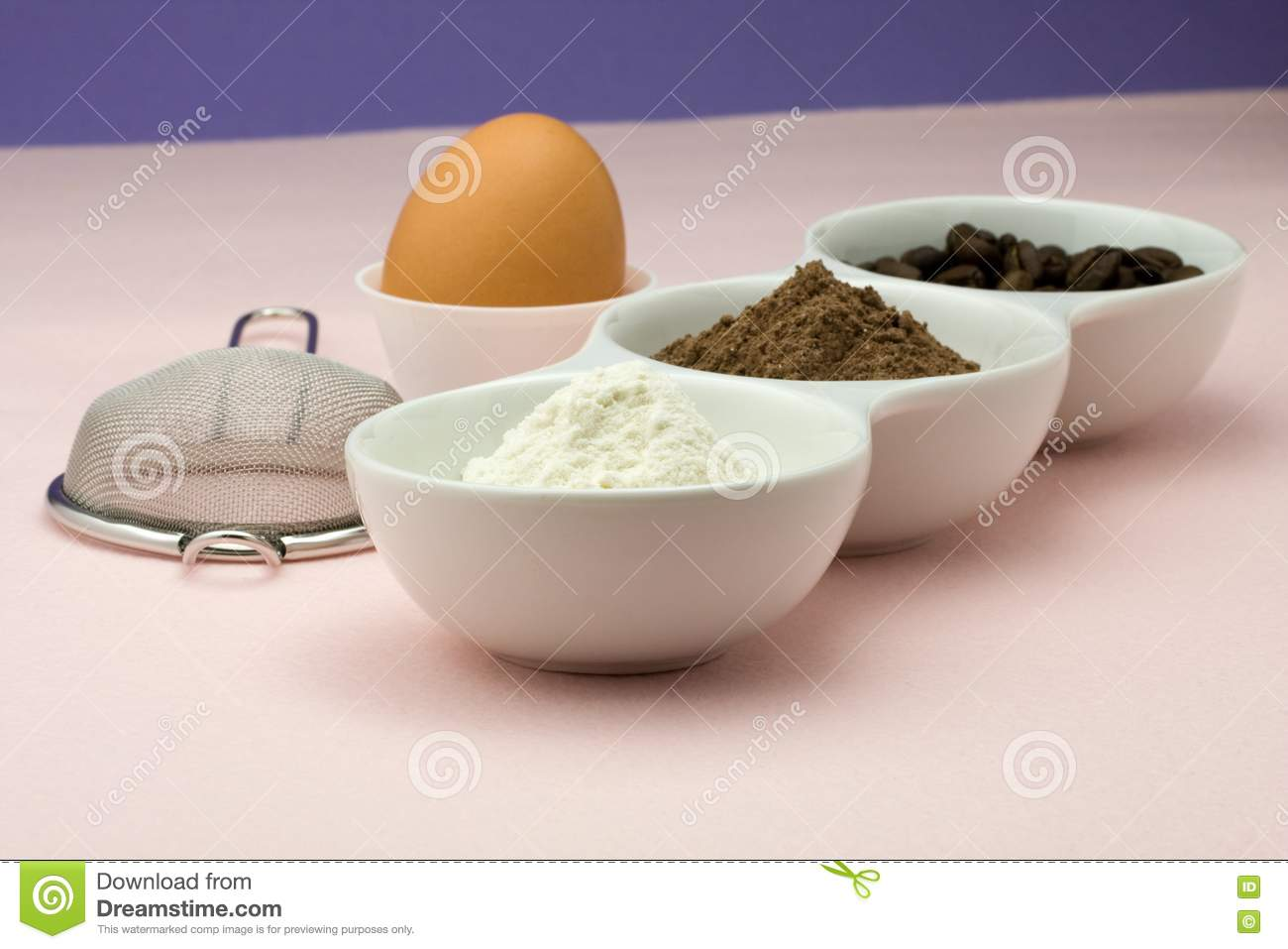 Ingredients For Homemade Cake Royalty Free Stock