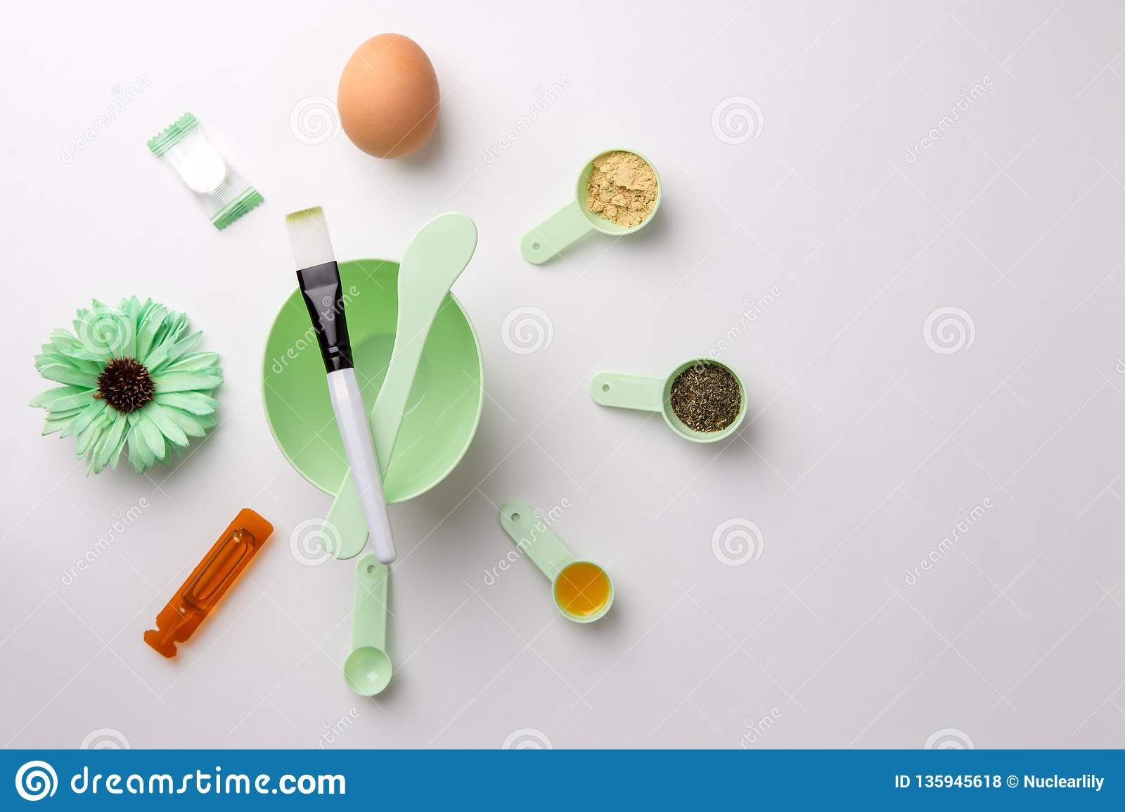 Ingredients For Homemade Face Mask Or Hair Castor Oil Essential Oils Mustard Dry Nettle Leaves Stock Photo Image Of Cosmetic Healthcare 135945618