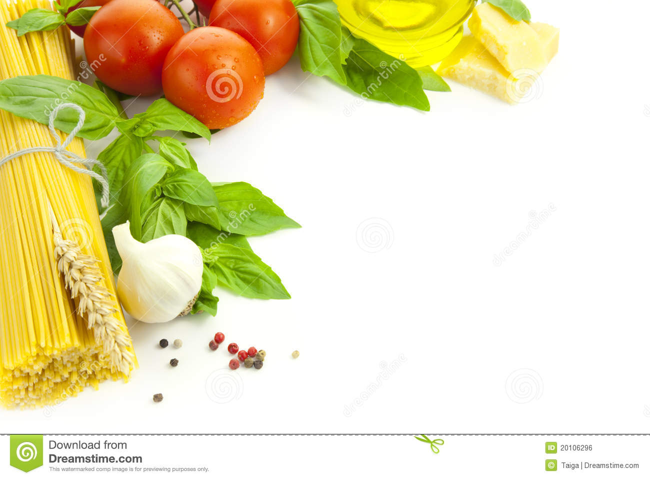 Ingredients For Italian Cooking / Frame Stock Photo ...