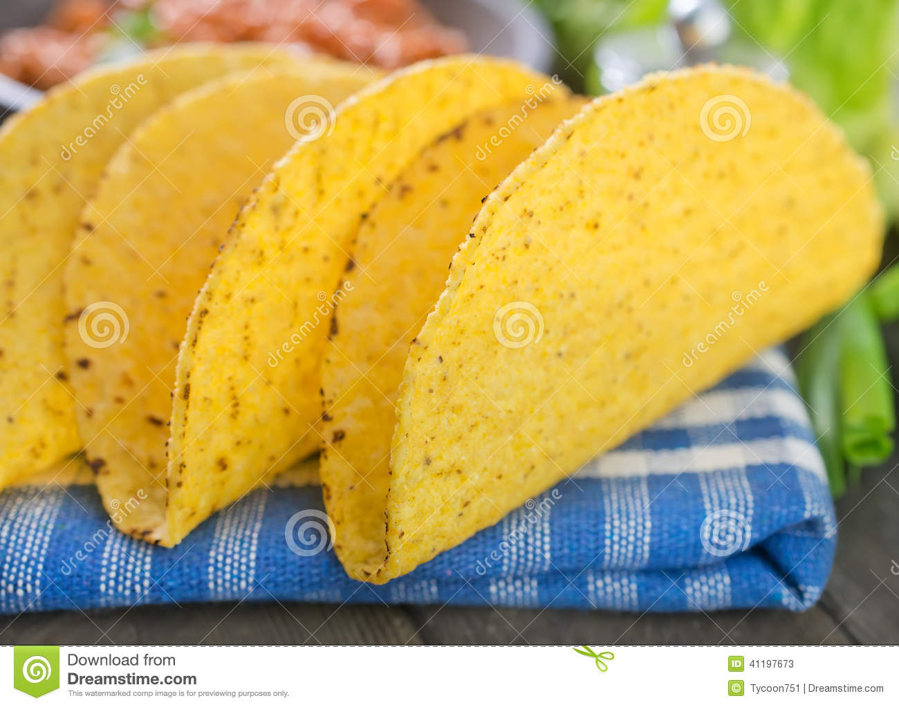 Ingredients for taco
