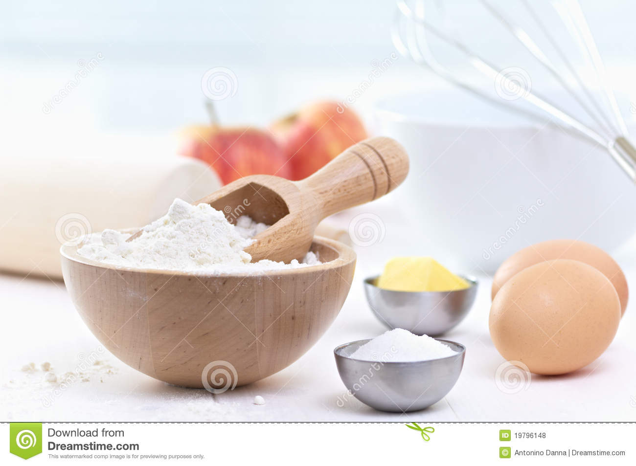 ingredients to make a cake royalty free stock photos