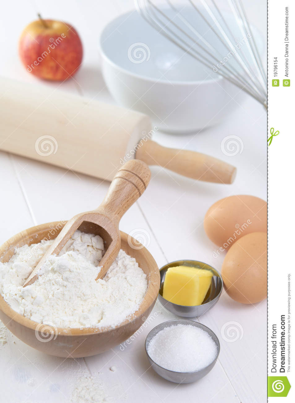 ingredients to make a cake stock images image 19796154