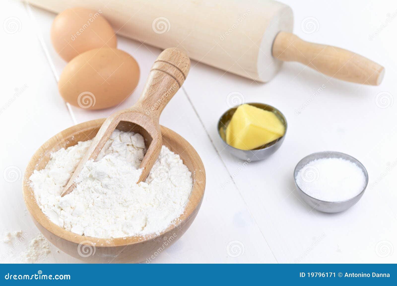 Ingredients To Make A Cake Stock Image Image 19796171