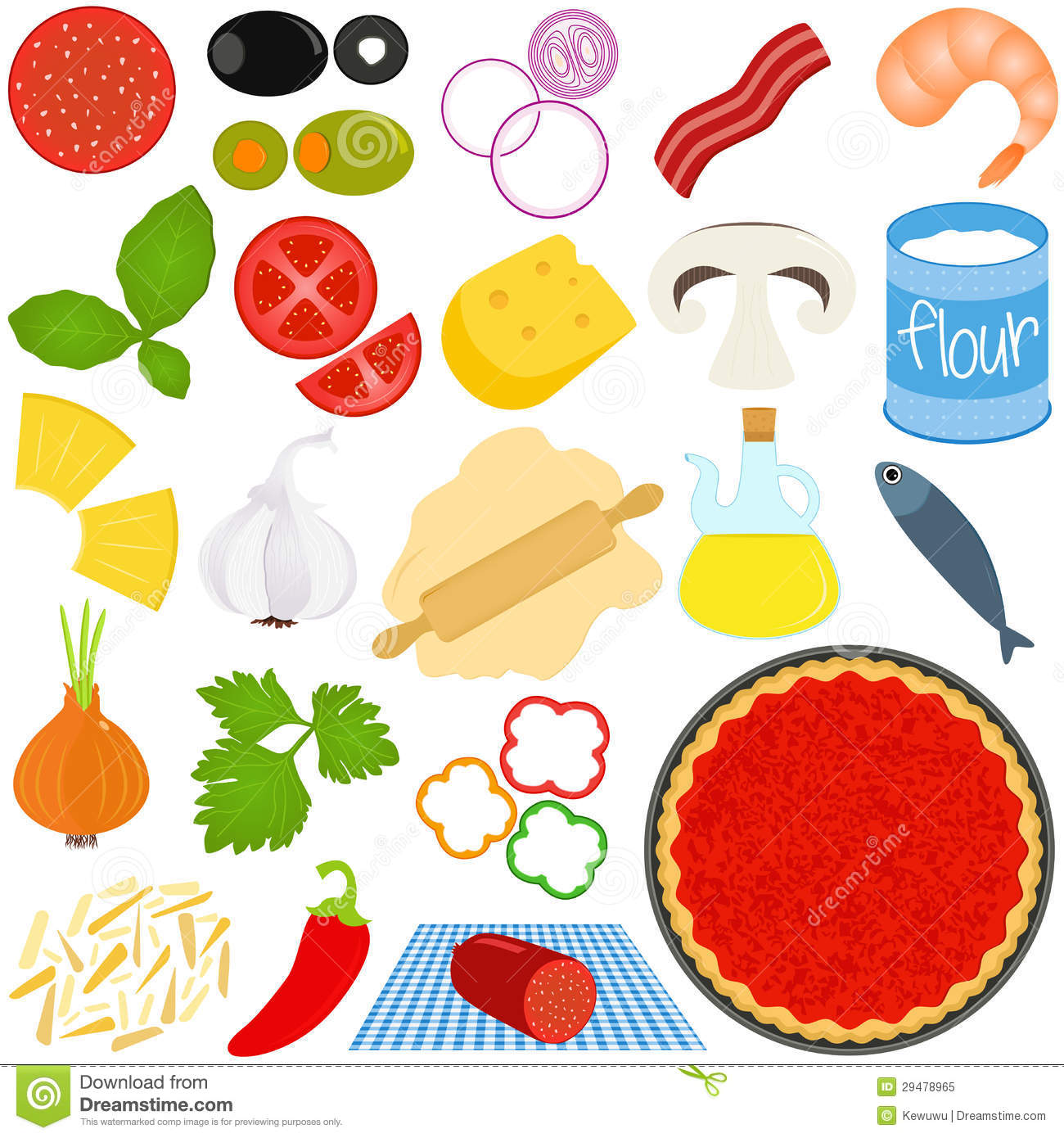 ingredients to make pizza stock vector illustration of Pizza Toppings Worksheet pizza toppings clipart black and white