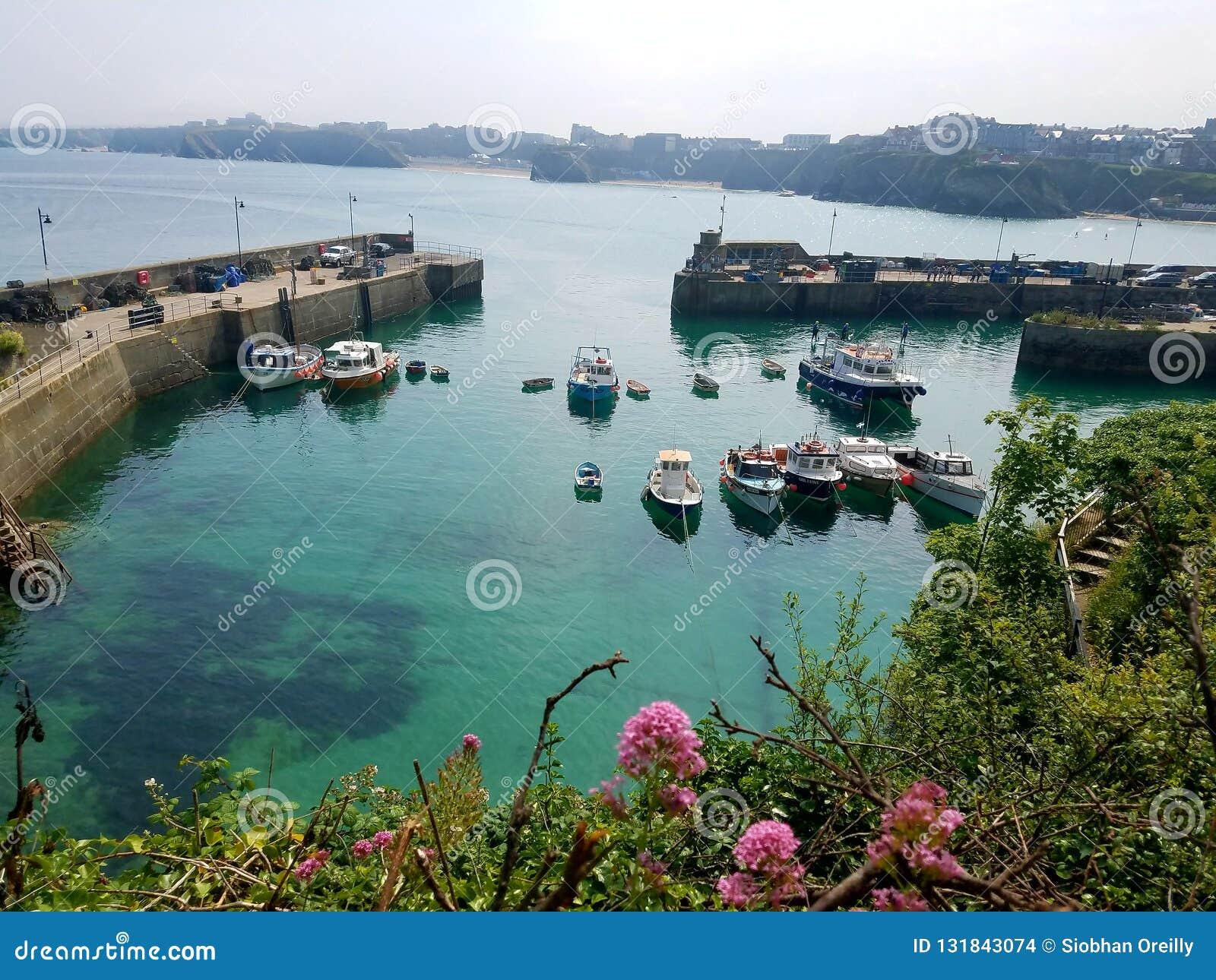Inham met vissersboten, Newquay, Cornwall in het Verenigd Koninkrijk