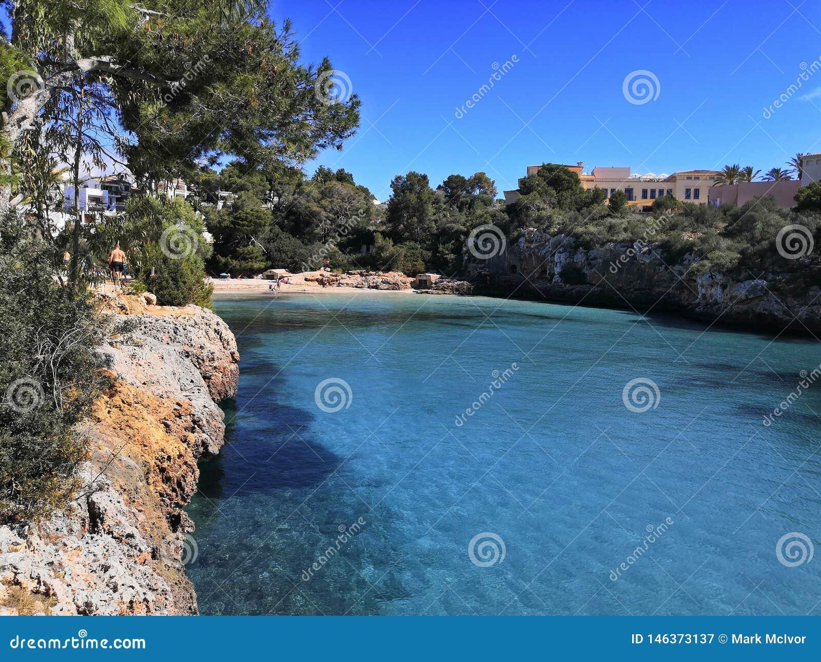 Inham overzeese hemel blauwe cala Ferrera Majorca