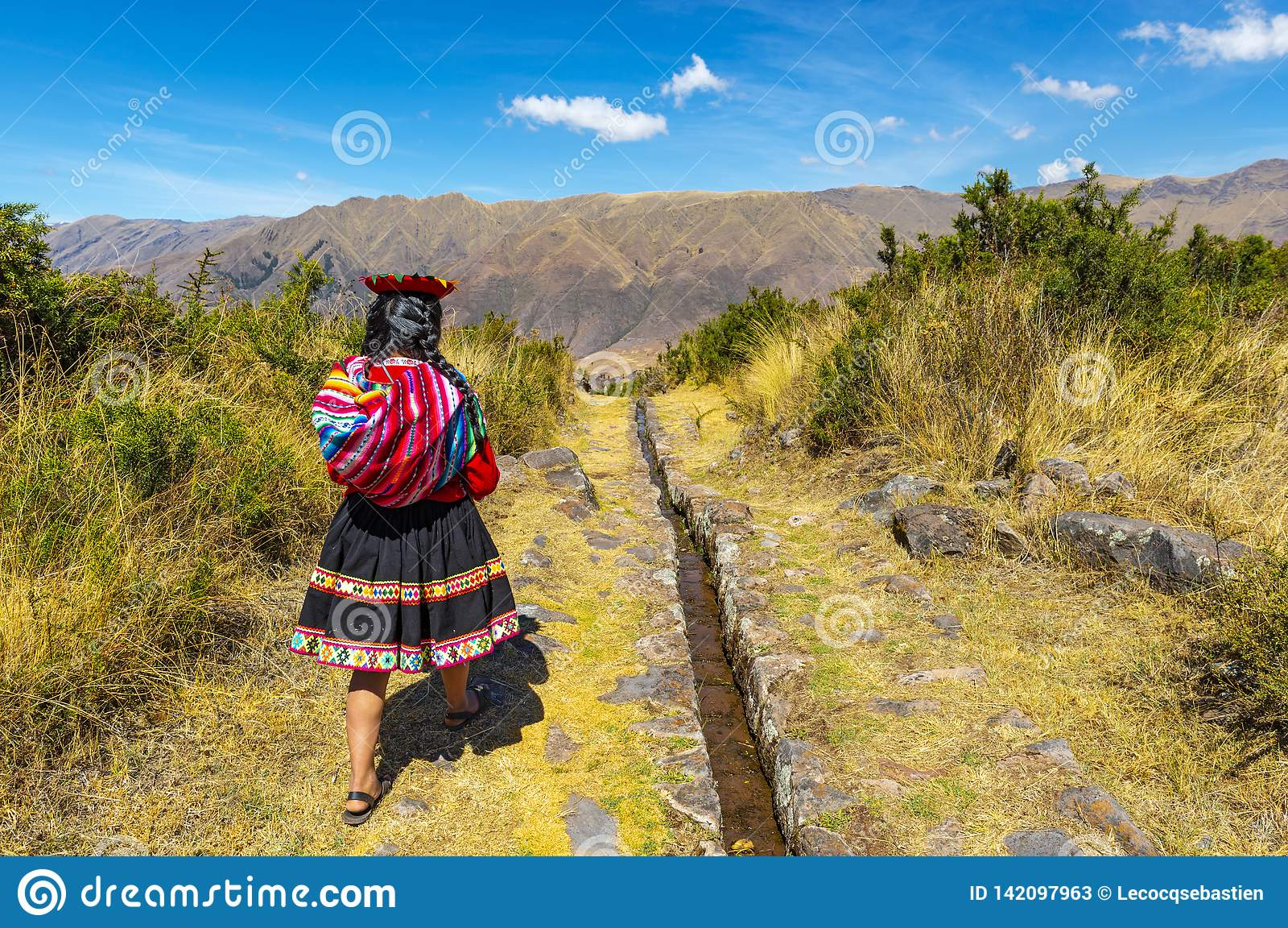 Inheems Quechua Meisje, Heilige Vallei, Peru