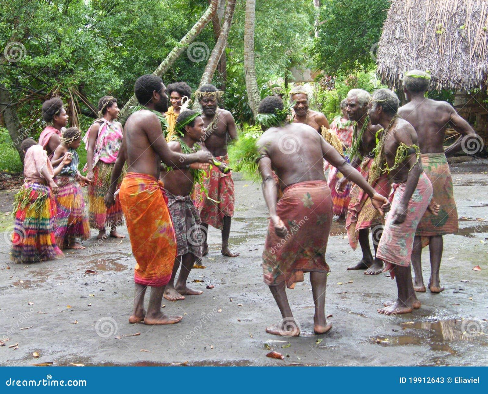Inheemse dansers in Vanuatu