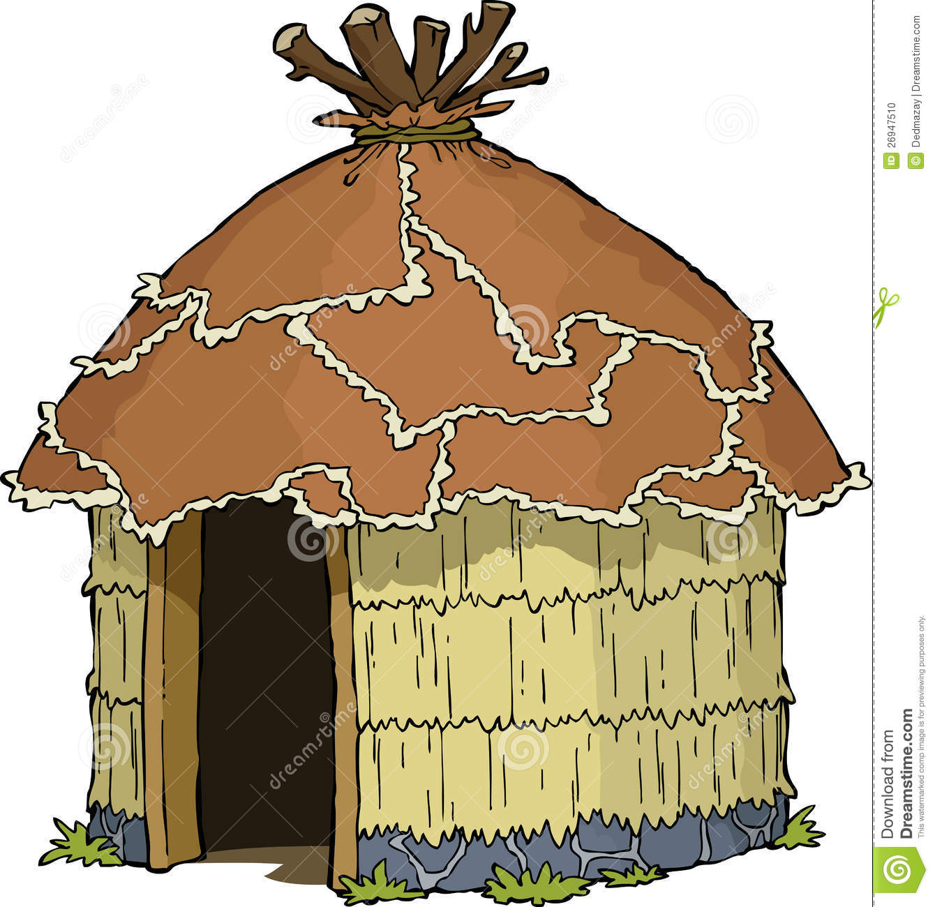 how to build a small food hut