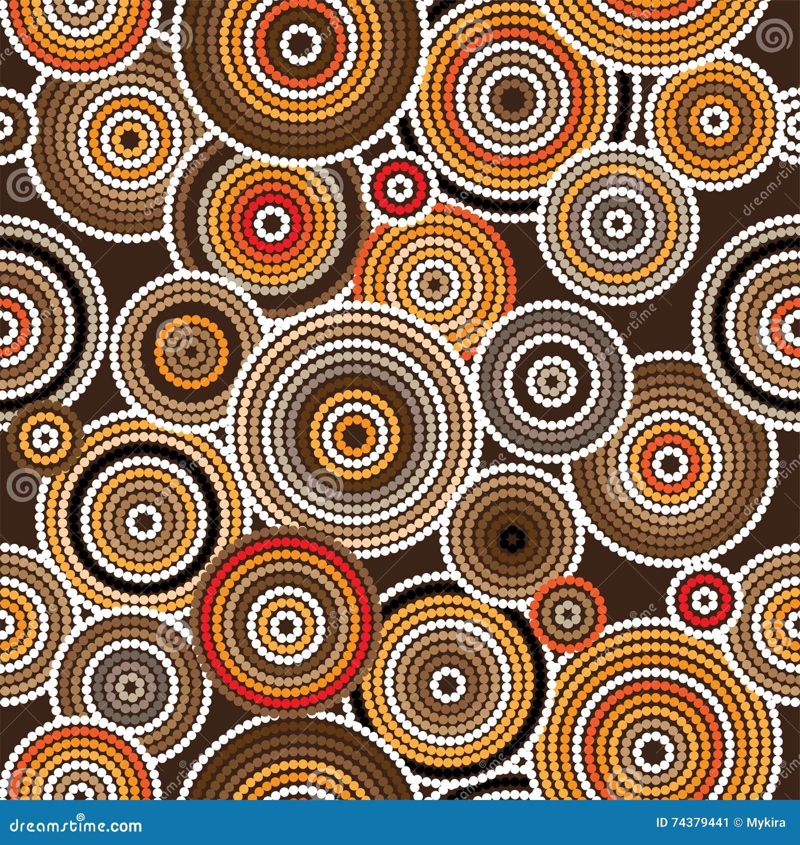 Inheemse kunst vector naadloze achtergrond