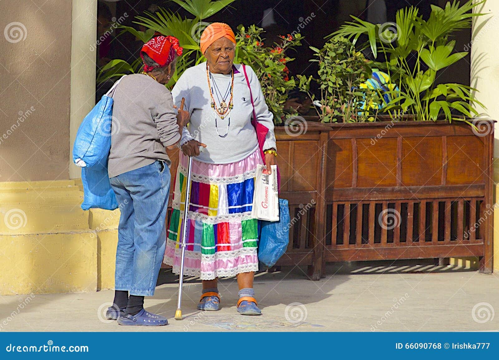 Inheemse mensen in Havana, Cuba