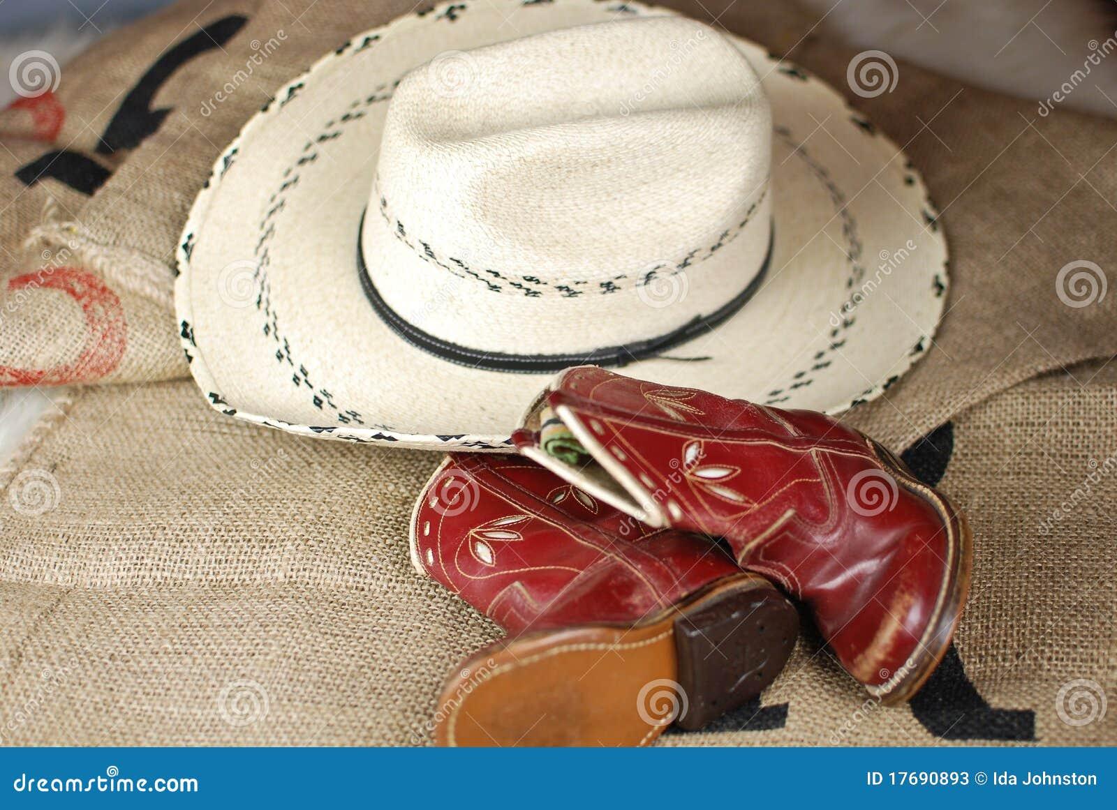 Inicjuje dziecko kowbojskiego kapelusz s