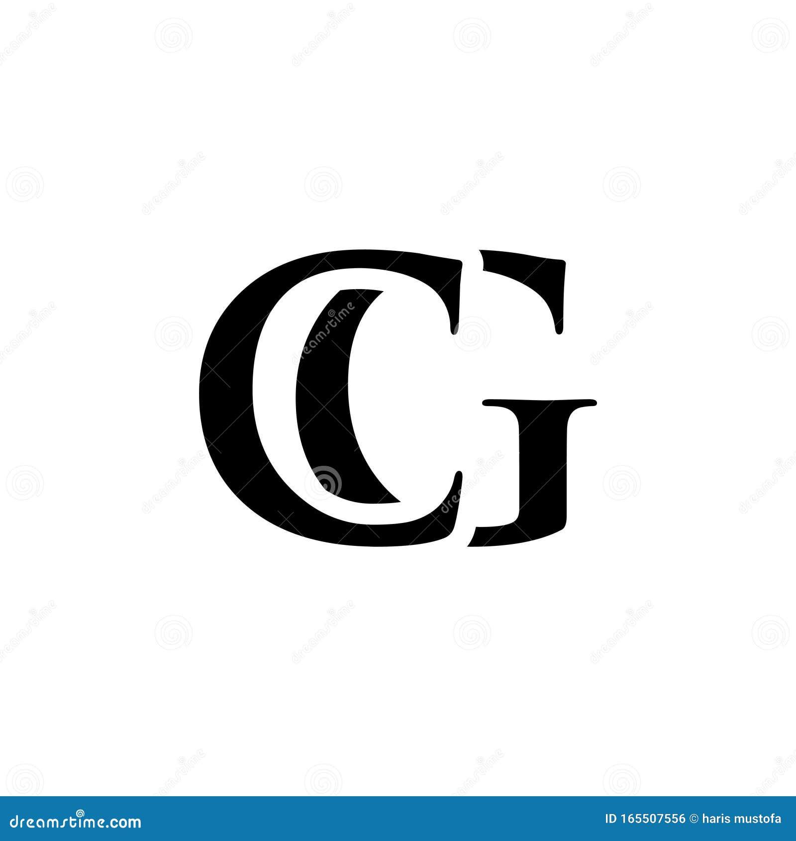 Initial Cg Alphabet Logo Design Template Vector Stock