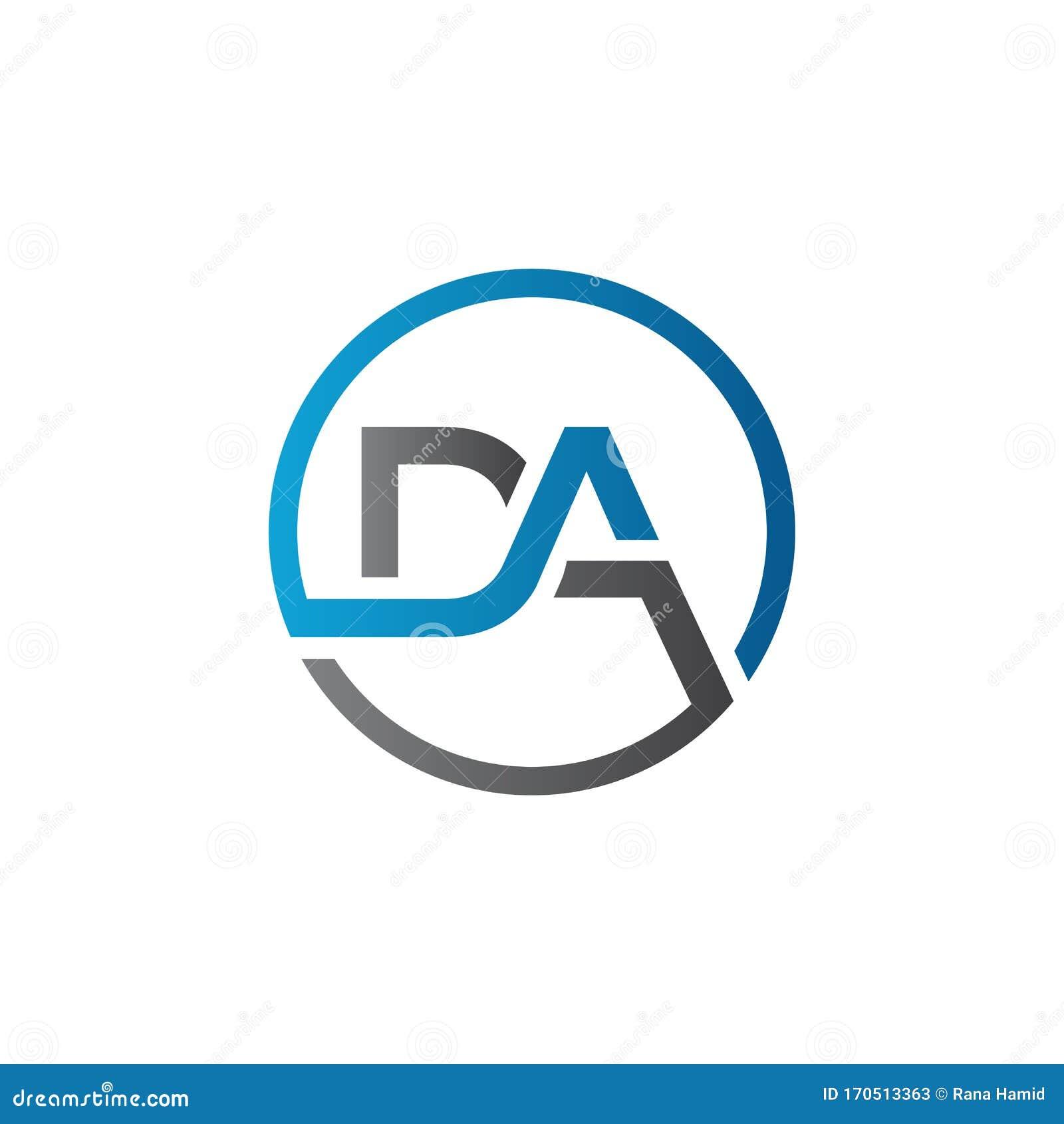 Initial DA Letter Logo With Creative Modern Business