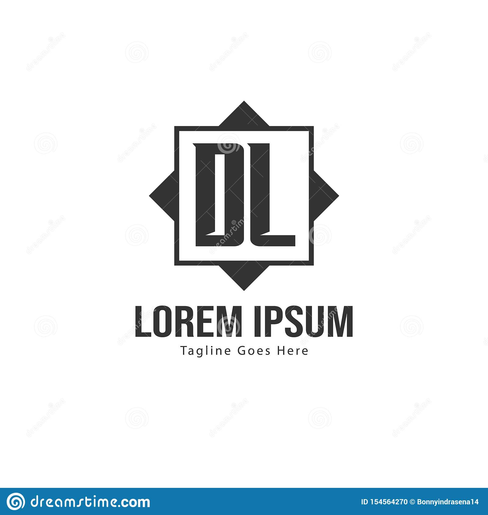 Initial Dl Logo Template With Modern Frame Minimalist Dl Letter Logo Vector Illustration Stock Vector Illustration Of Typeface Company 154564270